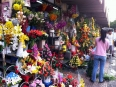 The central market in HCMC hosts a colorful display of foods, fragrances and flowers.