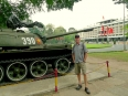 A Viet Cong tank in front of the former Presidential Palace which fell to communist forces on April 30, 1975.