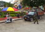 Because of the recent stability in the region, the Colombian army presence is noticed all throughout Huila department