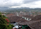 View of San Agustín town from the rooftop terrace of my fantastic hostel