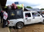 Local transport laden with goods from the Monday market in San Agustín