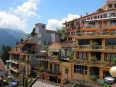 Hotels galore on a couple main tourist streets, all with magnificent views of the surrounding mountains