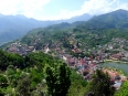 View of Sapa town from one of the lookout points