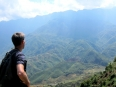 Me contemplating the mountains, with Fanispan (the highest point in Vietnam and Indochina) on my mind