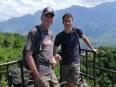 Peter and Paul atop Dragon Jaw Mountain park in Sapa, Vietnam