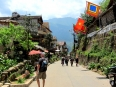 Wandering down one of the alpine streets of Sapa