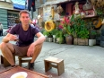 Me having a ca phe sua (coffee with sweetened condensed milk) at Café Peter in Sapa, Vietnam