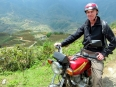 Paul on our rented wheels to explore the valley beneath Sapa town