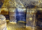 Richly painted burial chambers of Tierradentro, still colorful after 1500 years