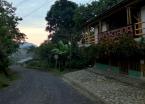 A pre-dawn vista of my pleasant posada <em>La Portada</em> in San Andrés, I enjoyed fine home cooking by the proprietor's wife