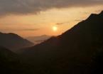 Sunrise over the valley leaving San Andrés de Pisimbala