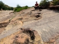 60-million-year-old dinosaur tracks just outside of Toro Toro town