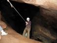 Rappelling inside the Umajallanta cave