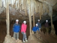 With my caving mates beside impressive stalactite (or is it stalagmite?)  formations inside the Umajallanta cave