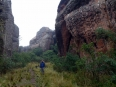 Beside a huge rock formation that closely resembles an elephant