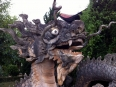 Dramatic dragon at the entrance to the temple
