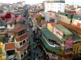 A view above Hanoi's chaotic Old Quarter