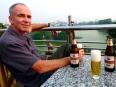 Paul enjoying a rooftop terrace Ha Noi beer overlooking Hoan Kiem Lake