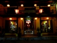 The Vinh Hung hotel at night, this was featured in the film The Quiet American