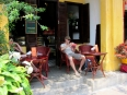 More café time Hoi An, a Vietnamese iced coffee always helps beat the heat
