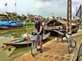 Paul on the waterfront of the Thu Bon River in Hoi An