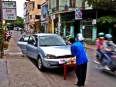 Buddhist blessing of a new car on the streets of Hoi An