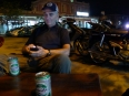 Waiting in Hué for the night train to Hanoi, with a couple cans of locally brewed Huda beer to keep us hydrated