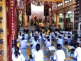 Buddhists chanting in the Long Son Pagoda in Nha Trang, Vietnam