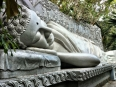Beautiful reclining Buddha, representing the moment of his death and entering the final state of enlightenment