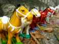 Miniature figurines in the Long Son Pagoda in Nha Trang
