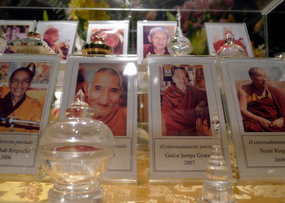 Relics of recently departed Buddhist masters