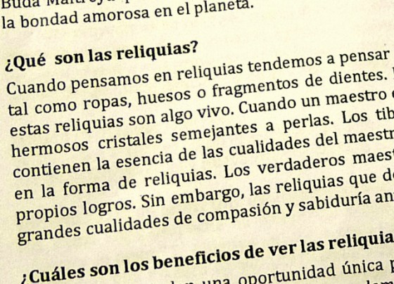 ¿Qué son las reliquias? What are the relics?