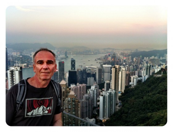 Paul atop Victory Peak above Hong Kong Island