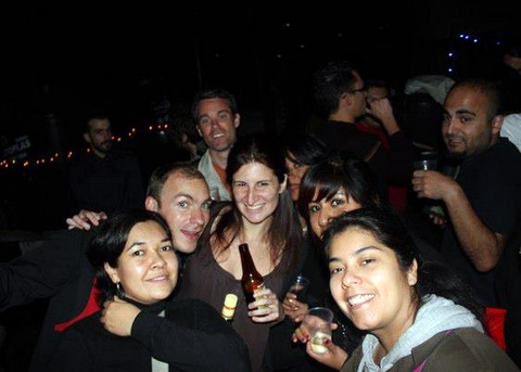 Rooftop party with CouchSurfers in the Condesa neighborhood, Mexico City