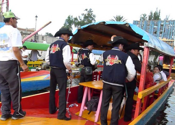 Mariachi bands for hire to serenade you along the canals