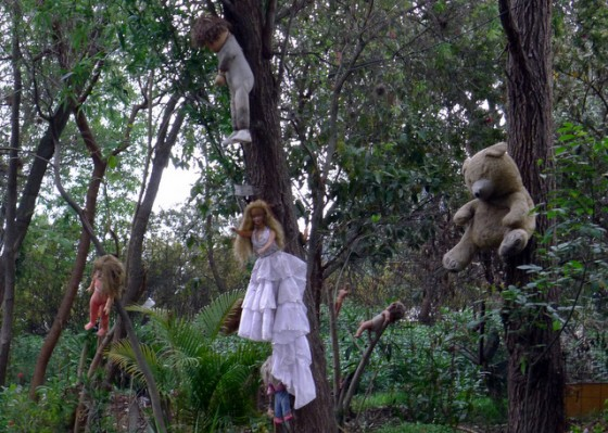 Island of the dolls, freaky and fantastic display along the canals