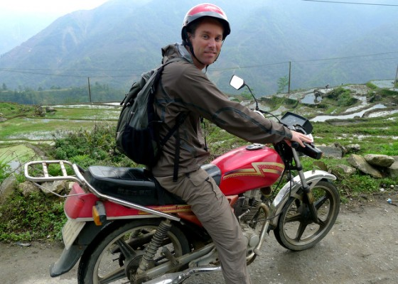 On the saddle of a Honda 125 in Sapa, Vietnam