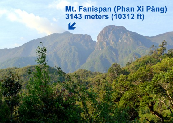 Objective: The top of Mt. Fansipan in Vietnam