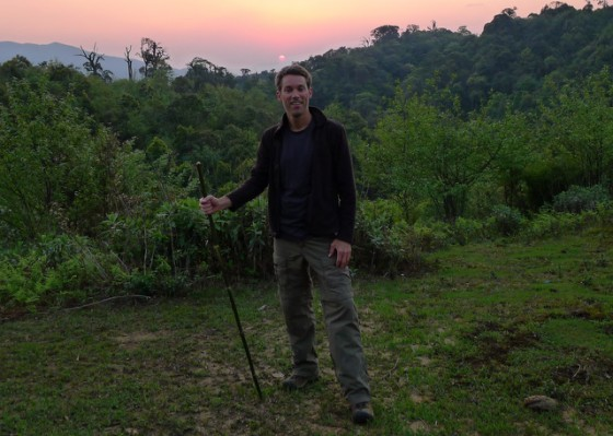 Setting off at sunrise: in the Muong Hoa valley below Mt. Fansipan