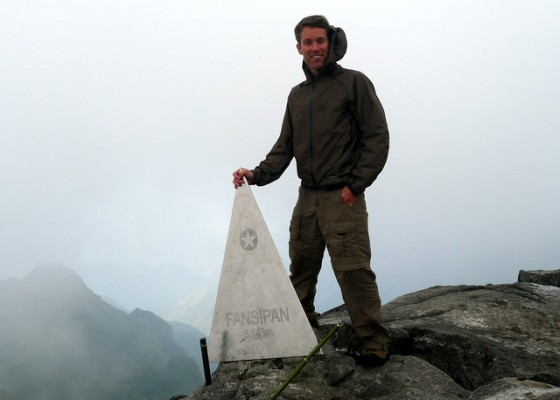 Made it! Atop Mt. Fansipan at 3,143 meters (10,312 ft)... the Roof of Indochina!