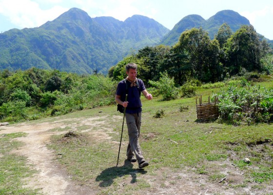 On the home stretch: heading back from summiting Mt. Fansipan in Vietnam