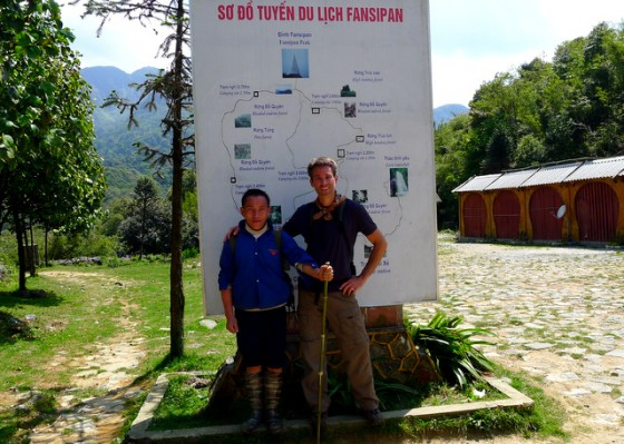 After the trek with my H'Mong guide Mi-to-sa at the trailhead to Mt. Fansipan