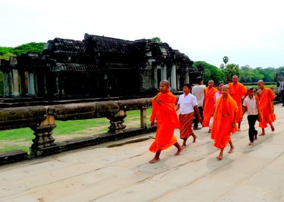 Young Buddhist monks at Angkor Wat