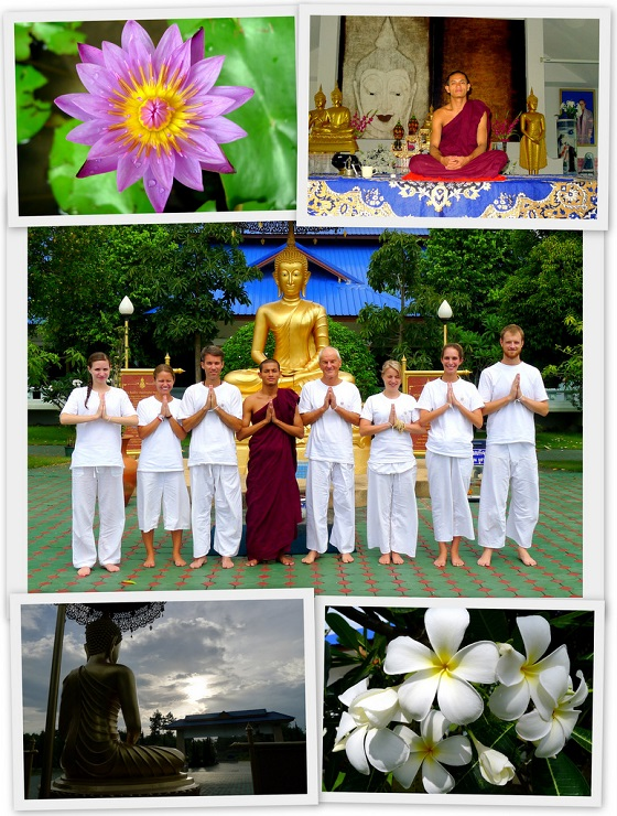 Scenes from the Buddhist Meditation retreat in Chaing Mai, Thailand
