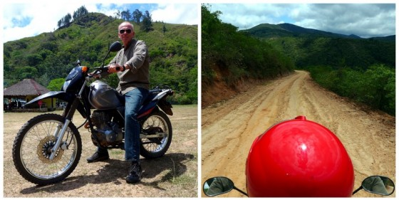 Easy rider Paul on the red-dirt roads outside of Samaipata