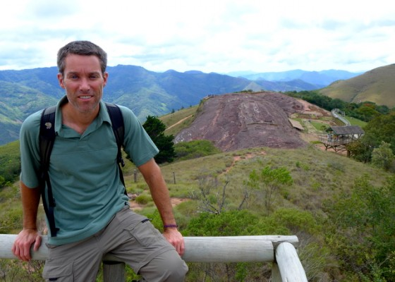 Peter overlooking the El Fuerte monument dating back 3,000 years