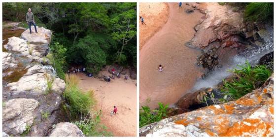 Views atop the waterfalls at Las Cuevas