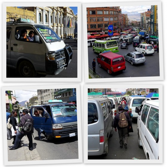 Minibuses, paceña style!