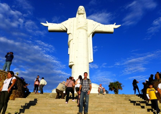 Cristo de la Concordia, the largest statue of Jesus Christ in the world, edging out one in Poland and the famous one in Rio de Janeiro