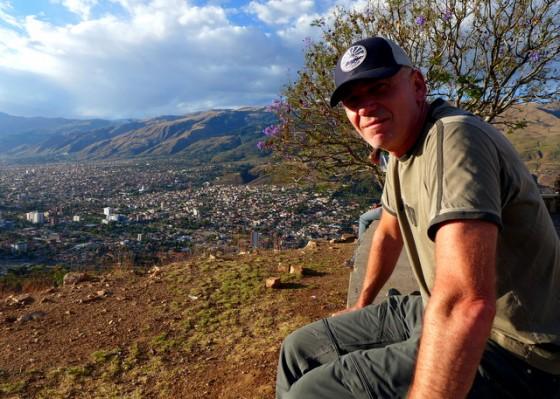 Paul atop San Pedro hill overlooking Cochabamba, Bolivia